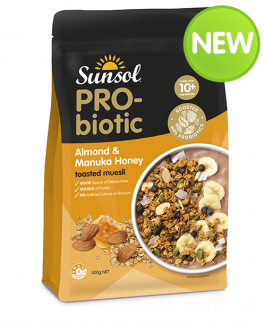 Probiotic Almond Manuka Honey Muesli